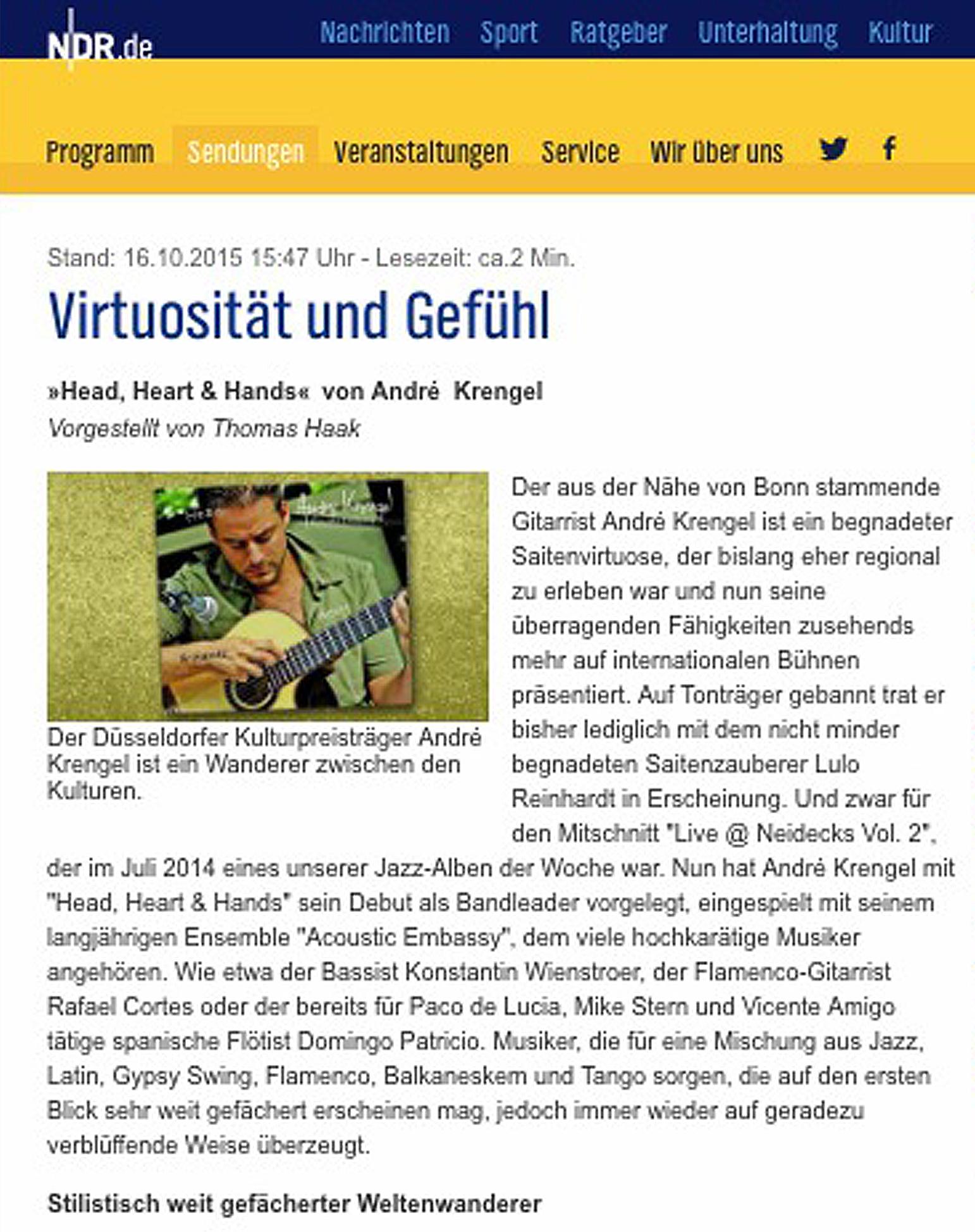 NDR_Album_der_Woche_CD Andre Krengel